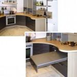 Küche mit runder Arbeitsplatte