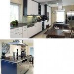 Küchenblock freistehend mit lackierter Front