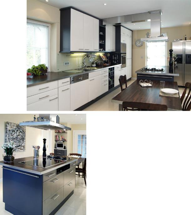 Küchenblock freistehend mit lackierter Front - Schreinerei Angermann